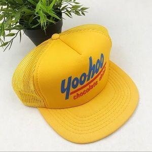 Vintage Yoo-Hoo 80s yellow snap back trucker hat
